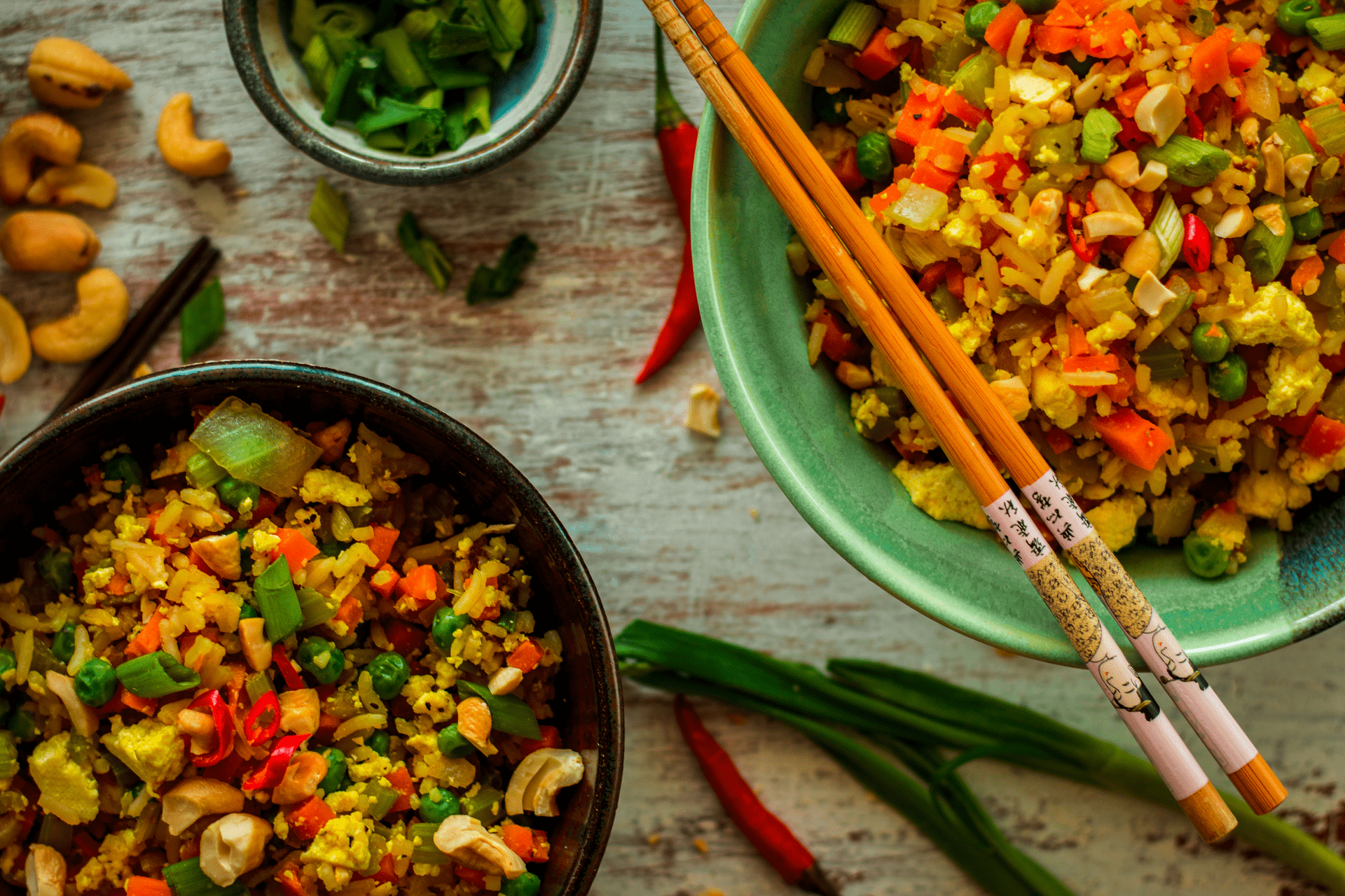 Image of vegan thai chili fried rice