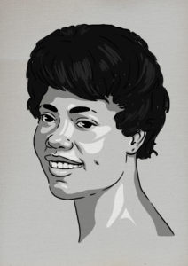 An illustration of a portrait of Brena Jean's mother.